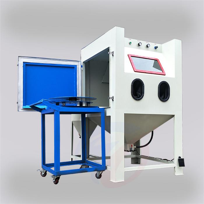 Manual sandblasting machine for cart turntable