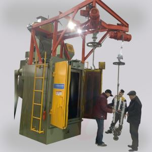Hook shot blasting machine