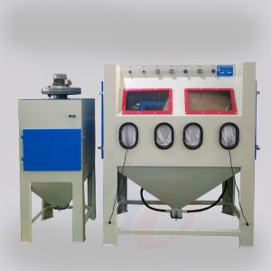 Double-station manual sandblasting machine