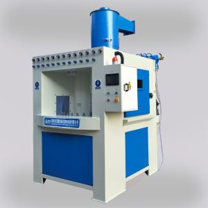 Turntable automatic sandblasting machine